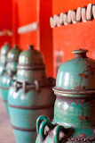 Line of vases