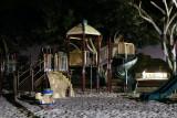 Neighborhood playground night