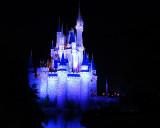 Cinderella's Castle - blue lights