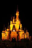 Cinderella's Castle - orange lights