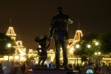Partners statue and Main Street