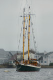 Newport sailing vessel in the rain