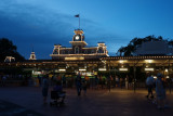 Magic Kingdom entrance night