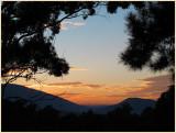 Sunrise through the valley