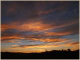First winter sunset