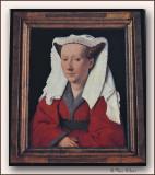 Maaseik reproductie Jan Van Eyck aan de Grote Markt van de toeristische dienst