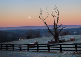 Moon Setting Over Catoctin Valley