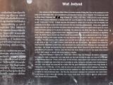 Wat  Jed Yod Plaque Explanation