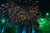 Fireworks Above the Cypresses.
