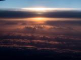 Coucher de soleil en avion