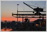 Morning at the Rhine harbor