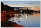 Evening at the Rhine harbor