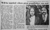 Duncan & Dale Wedding Announcement 1978 (St. Williams)