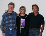 Barrie Ashworth, his wife Laurie and me - Duncan Bristow, in Collingwood - Jan 2012