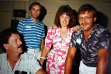 Rob Clark, Ray Smalley, Maria & John Corville  -  1987