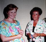 Debbie Cutting (Vanderlip) and Debbie Bint  -  1987