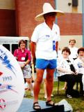 Our leader - L Foster Hutton wearing the forbidden Beach Attire