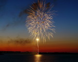 Fireworks & Sunset over Collingwood Harbour May 2012