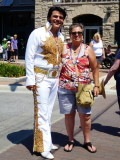 Elvis poses for photo in Collingwood - 2012