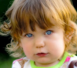 Stunning blue eyes and such sweet cheeks