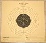 Zimmerstutzen Target for 15 Meters, 10 ring is 5/32 or 0.15625 in diameter