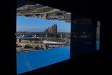 One of the windows along the Endless Bridge at the Guthrie Theater