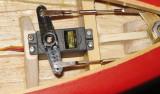 23. Rudder servo connected to rudder