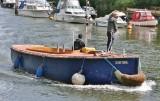 Unusual little tug boat.