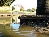 Footings of Richmond railway bridge.