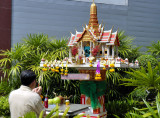 Praying in Bangkok