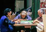 Old Ladies playing Majong