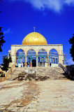 The Dome of the Rock with snow