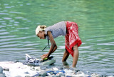 Girl Washing on the River Io