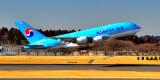 KAL A380 take off...