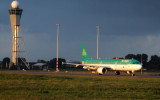 Aer Lingus A321 Ready for TO under Stormy Sunrise