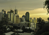 Brisbane in pre-storm light.