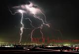 Lightning over L A