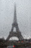 rainy window into Paris