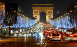 Avenue des Champs Elysees and Arc de Triomphe