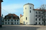 Citadeles iela with  the moat of Riga Castle