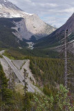 The Icefields Parkway, from the Bridal Veil Falls overlook