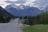 Off ramp to Mount Norquay