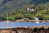 Duncraig Castle, overlooking Loch Carron, at Plockton