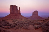 West and East Mitten Buttes at dusk