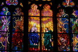 Stained glass windows in St. Vitus
