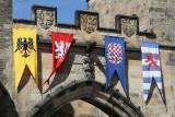 Flags on Charles Bridge gate