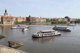 Ships on the Vltava river
