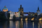 View of Charles bridge from our restaurant