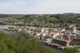 Danube meets the Inn river at Passau