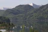 Mondsee Lake and the Alps